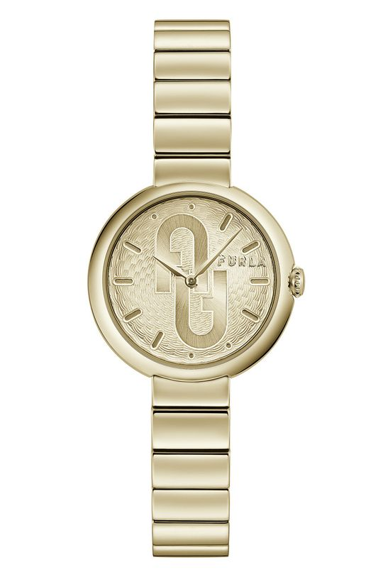 złoty FURLA - Zegarek WW00005009L2 Damski