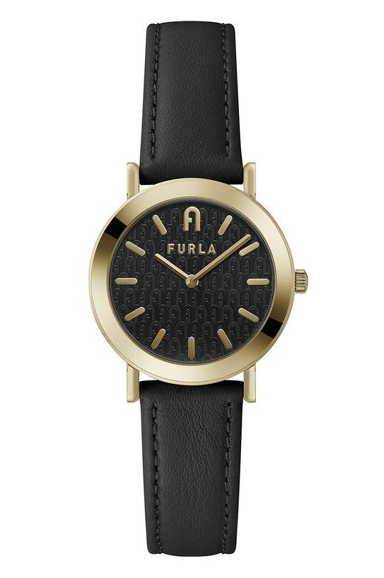 czarny FURLA - Zegarek WW00007008L2 Damski