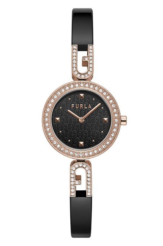 czarny FURLA - Zegarek WW00010004L3 Damski