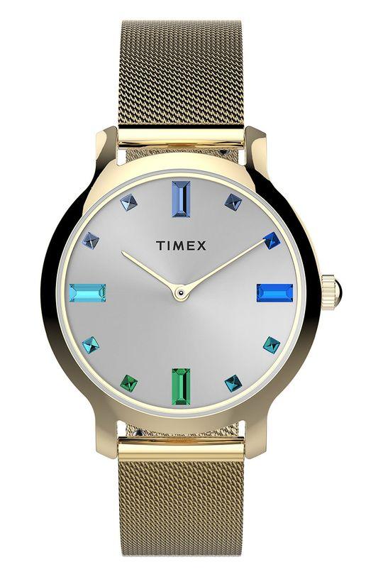 srebrny Timex - Zegarek TW2U86900 Damski