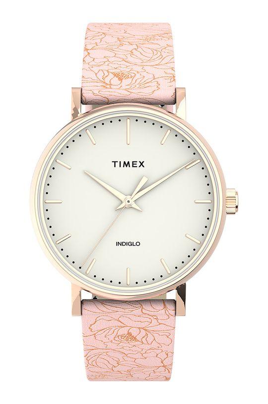 różowy Timex - Zegarek TW2U40500 Damski
