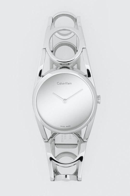 srebrny Calvin Klein - Zegarek K5U2S146 Damski
