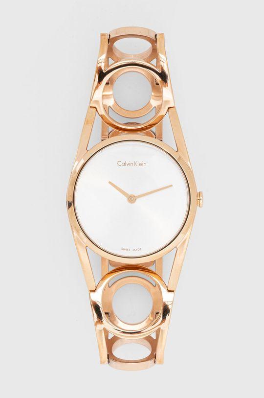 złoty Calvin Klein - Zegarek K5U2S646 Damski