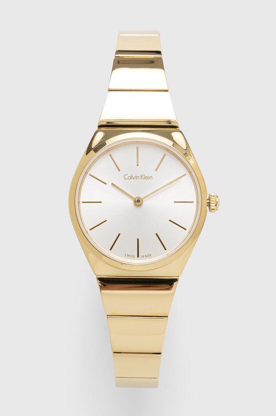 złoty Calvin Klein - Zegarek K6C23546 Damski