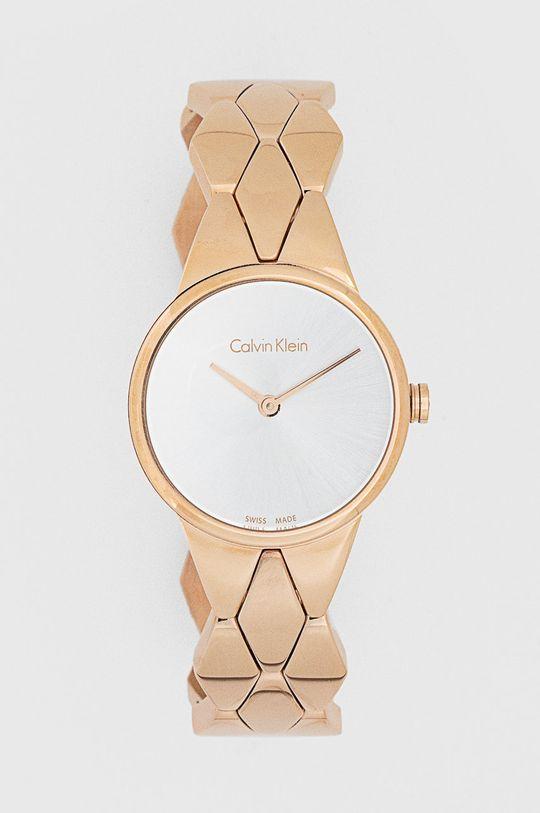 złoty Calvin Klein - Zegarek K6E23646 Damski