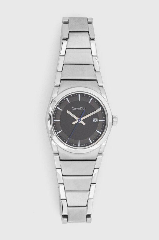 srebrny Calvin Klein - Zegarek K6K33143 Damski