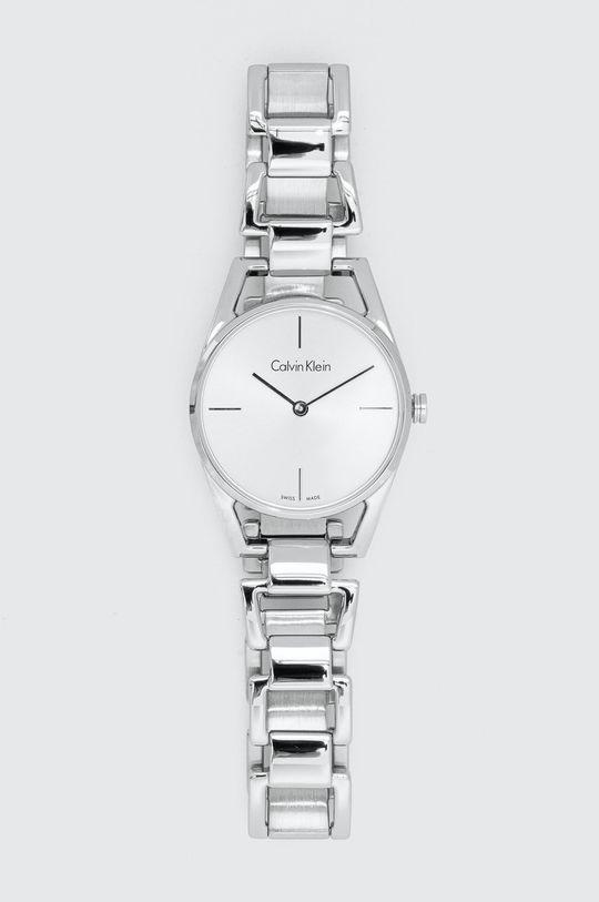 srebrny Calvin Klein - Zegarek K7L23146 Damski