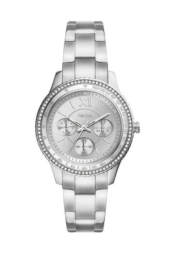 srebrny Fossil - Zegarek ES5108 Damski