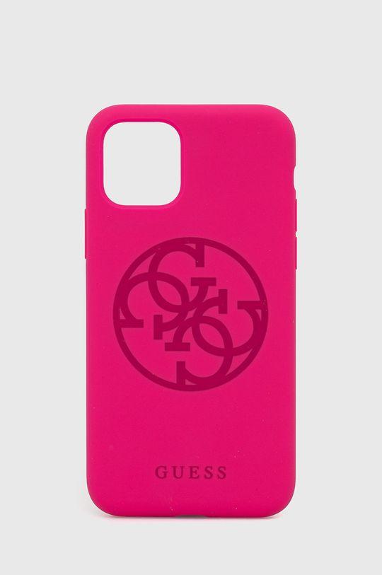fuksja Guess - Etui na telefon iPhone 11 Pro Damski