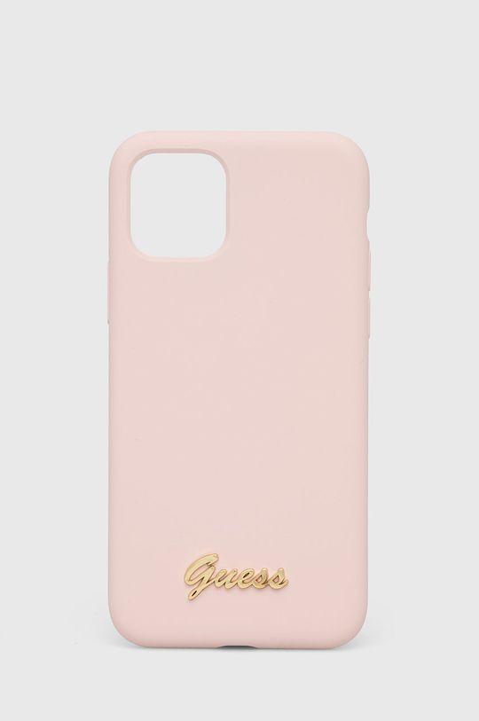 pastelowy różowy Guess - Etui na telefon iPhone 11 Pro Damski