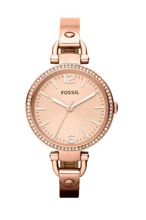 złoty Fossil - Zegarek ES3226 Damski