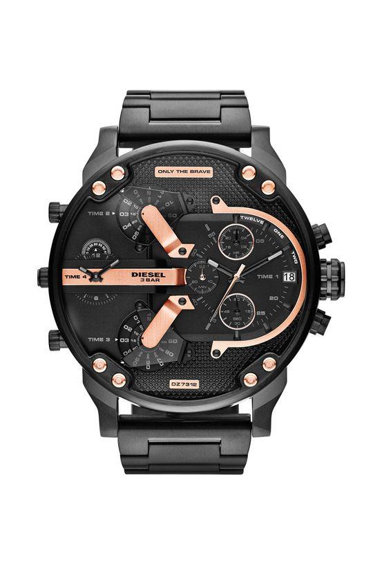 czarny Diesel - Zegarek DZ7312. Męski
