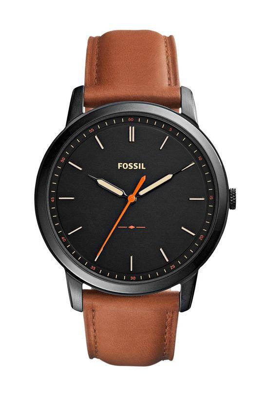 brązowy Fossil - Zegarek FS5305 Męski
