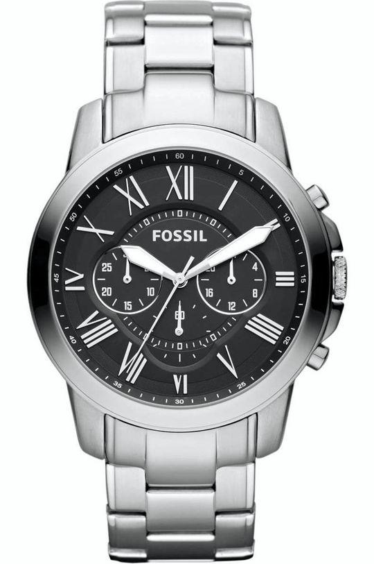 stříbrná Fossil - Hodinky FS4736IE Pánský