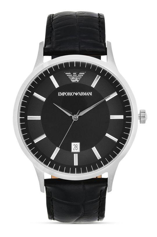 czarny Emporio Armani - Zegarek AR2411 Męski