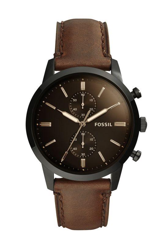 czarny Fossil - Zegarek FS5437 Męski