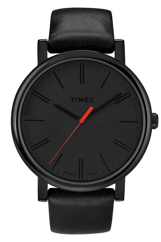 czarny Timex - Zegarek T2N794 Męski