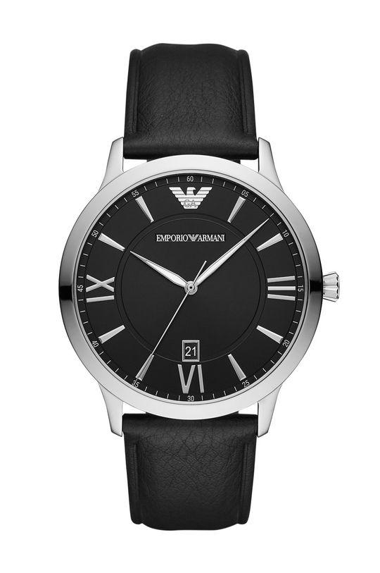 czarny Emporio Armani - Zegarek AR11210 Męski