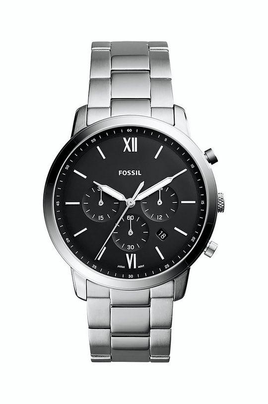 srebrny FOSSIL - Zegarek FS5384 Męski