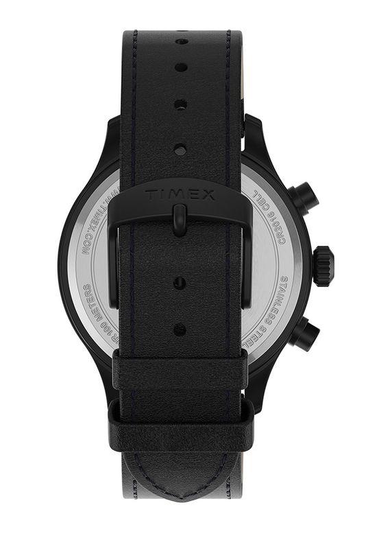 Timex - Hodinky TW2T73000  Mosadz, Prírodná koža, Minerálne sklo