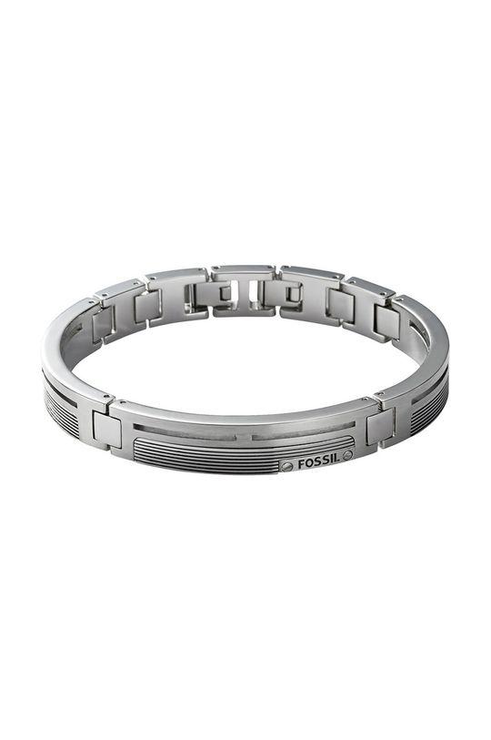 srebrny Fossil - Bransoletka Męski