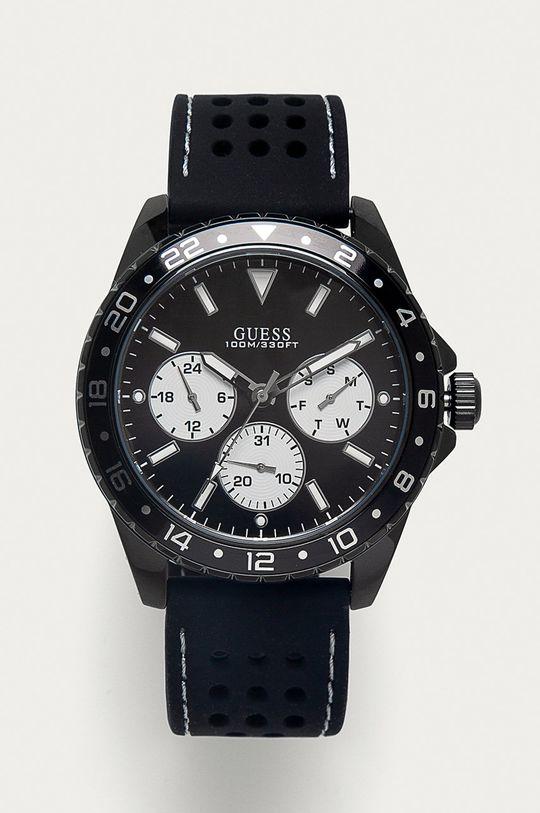czarny Guess Jeans - Zegarek W1108G3 Męski