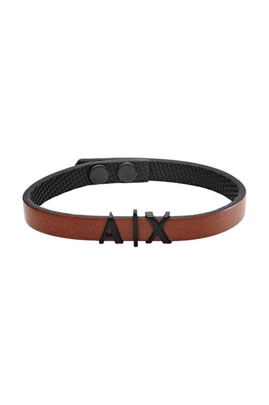 коричневый Armani Exchange - Кожаный браслет Мужской