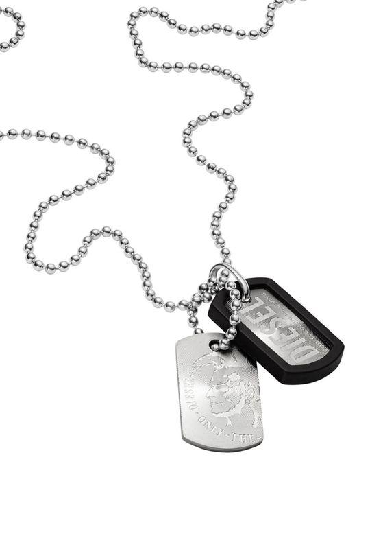 stříbrná Diesel - Náhrdelník DX0202040 Pánský