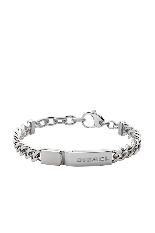 stříbrná Diesel - Náramek Pánský