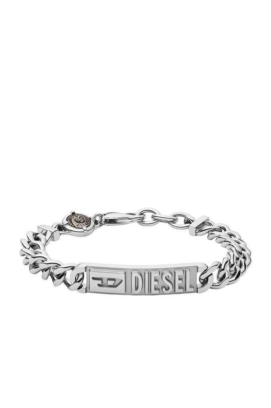 srebrny Diesel - Bransoletka Męski