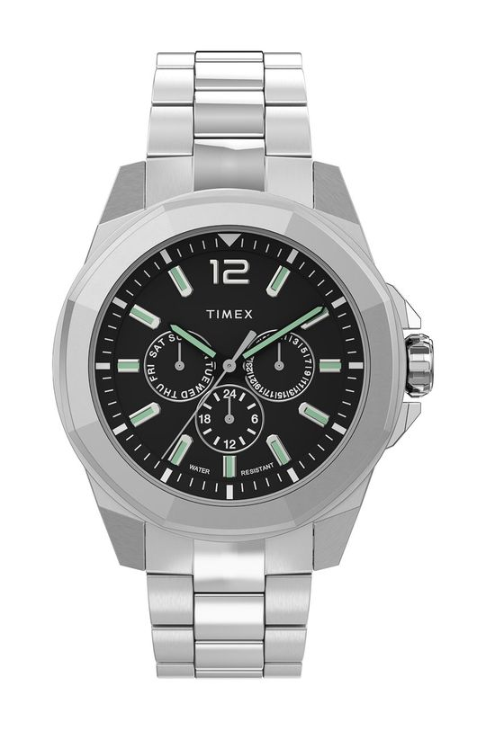 srebrny Timex - Zegarek TW2U42600 Męski