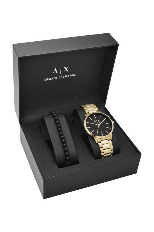 zlatá Armani Exchange - Hodinky a náramek AX7119
