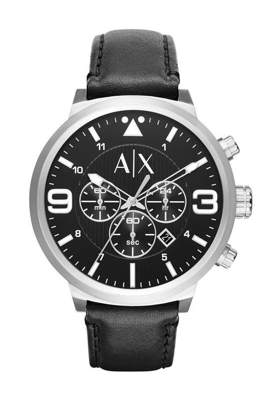 czarny Armani Exchange - Zegarek AX1371 Męski