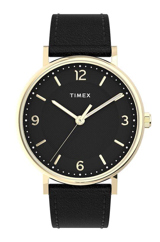 czarny Timex - Zegarek TW2U67600 Męski