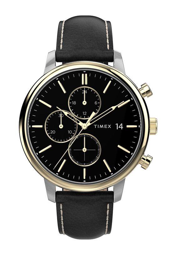 černá Timex - Hodinky TW2U39100 Pánský