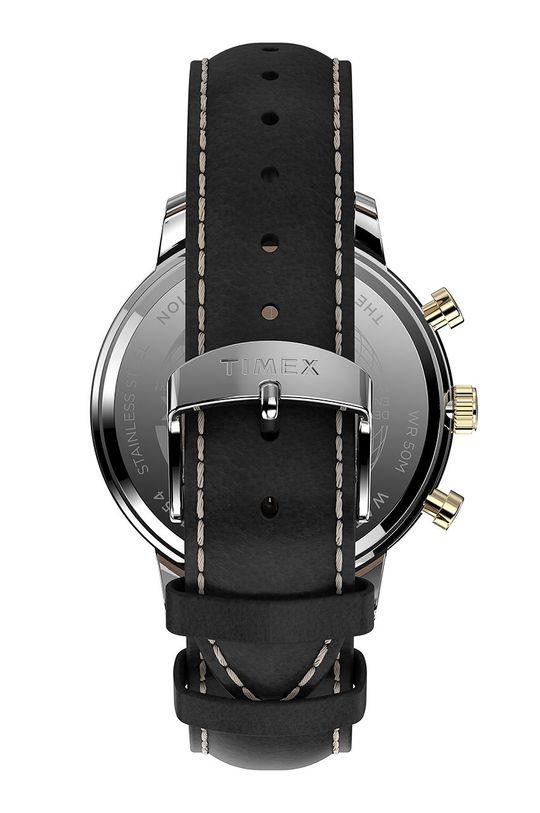 Timex - Hodinky TW2U39100  Přírodní kůže, Ocel, Minerální sklo