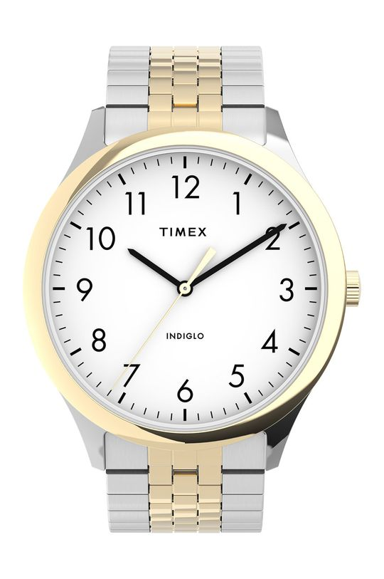 srebrny Timex - Zegarek TW2U40000 Męski