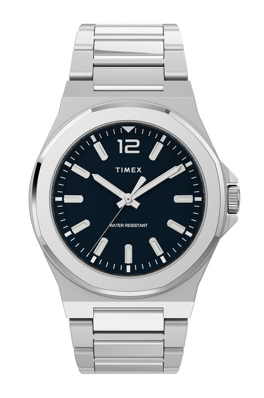 srebrny Timex - Zegarek TW2U42400 Męski