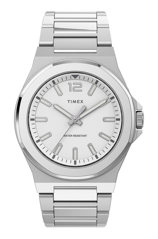 srebrny Timex - Zegarek TW2U42500 Męski