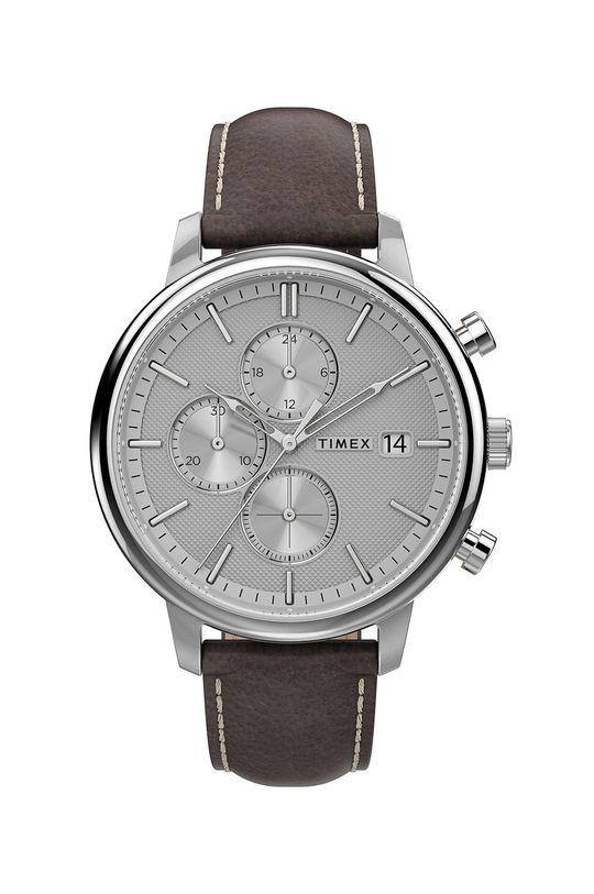 strieborná Timex - Hodinky TW2U38800 Pánsky
