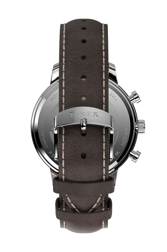 Timex - Hodinky TW2U38800  Podrážka: Kov, Prírodná koža, Minerálne sklo
