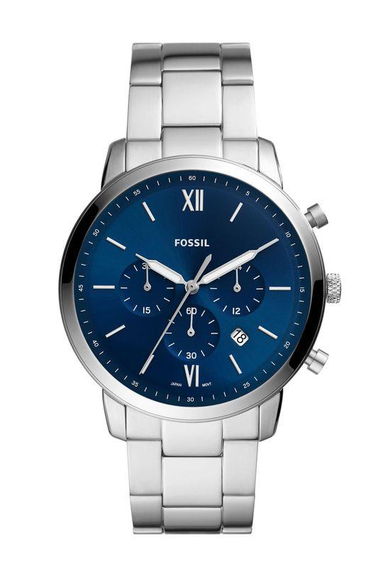 srebrny FOSSIL - Zegarek FS5792 Męski