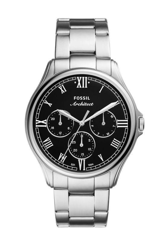 srebrny Fossil - Zegarek FS5801 Męski
