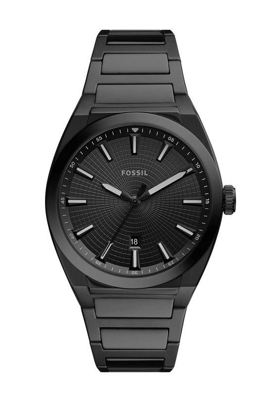 czarny Fossil - Zegarek FS5824 Męski