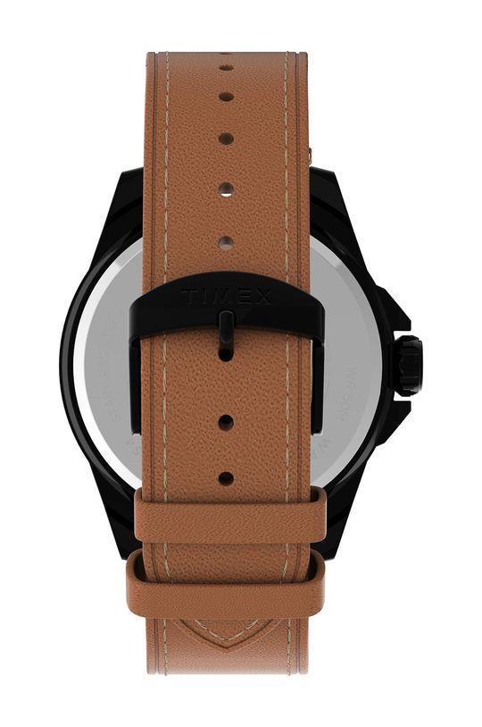 Timex - Hodinky TW2U15100  Přírodní kůže, Ocel, Minerální sklo