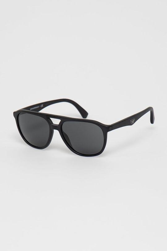 czarny Emporio Armani - Okulary przeciwsłoneczne 0EA4156 Męski