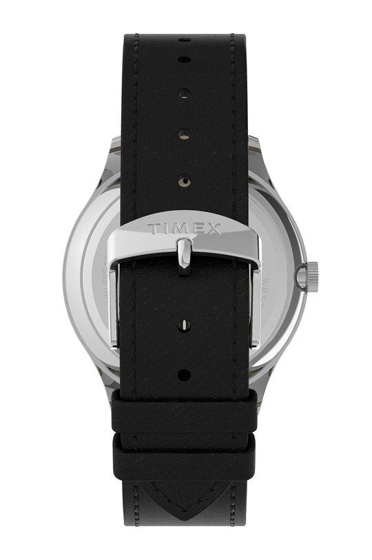 Timex - Hodinky TW2U22100  Kov, Přírodní kůže, Minerální sklo