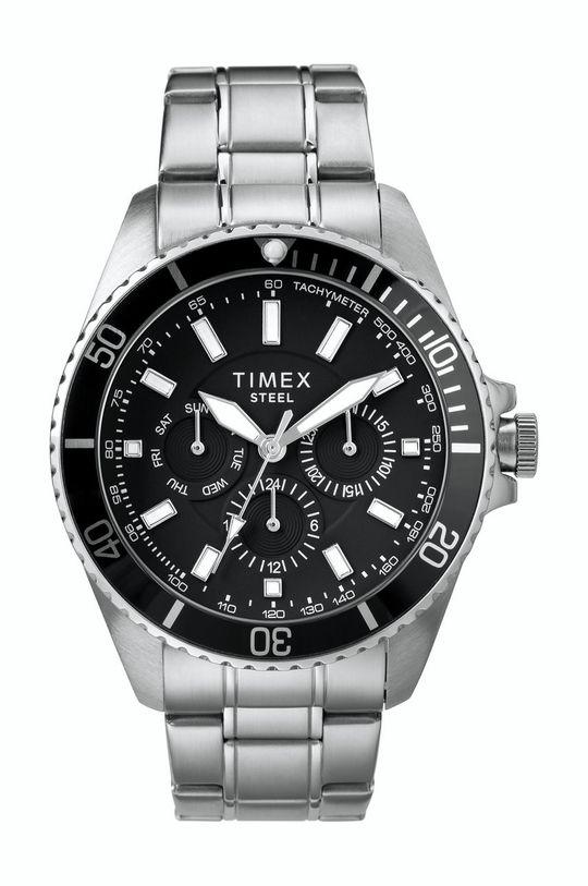 srebrny Timex - Zegarek TW2T58900 Męski