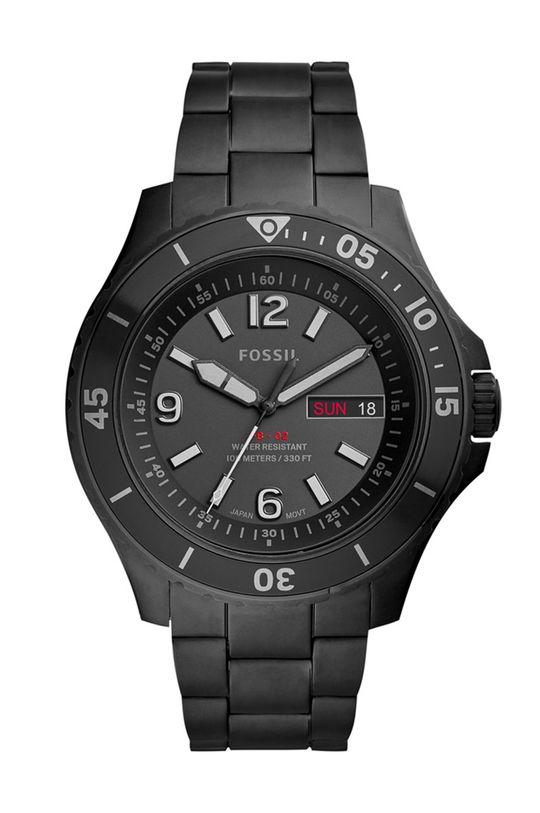czarny Fossil - Zegarek FS5688 Męski