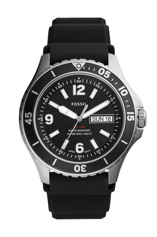 czarny Fossil - Zegarek FS5689 Męski